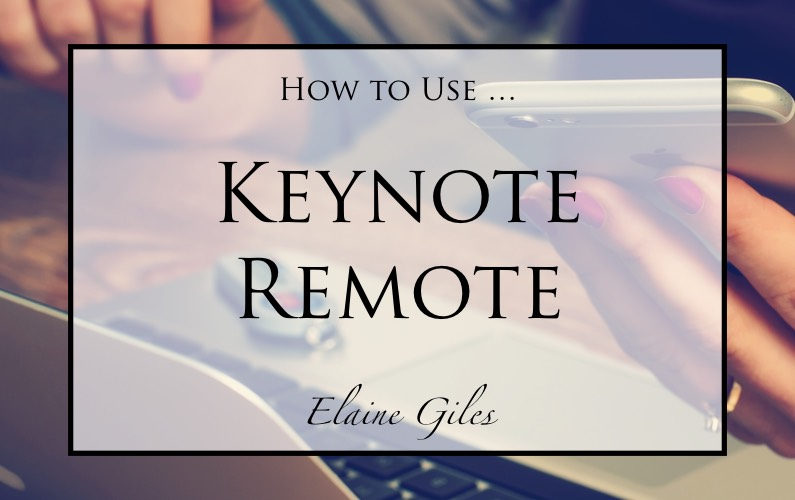 How to Use Keynote Remote